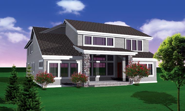 House Plan 73498 Rear Elevation