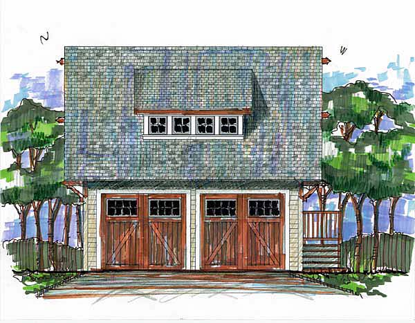Garage Plan 73600 Elevation