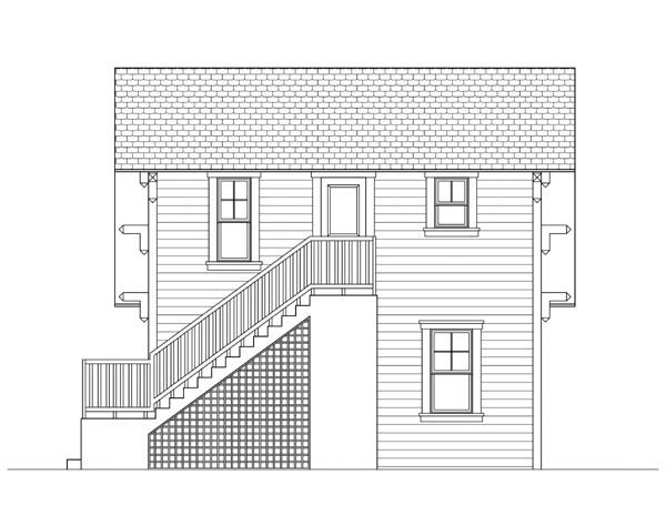 Garage Plan 73600 Rear Elevation