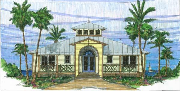 Coastal, Florida, Southern House Plan 73602 with 3 Beds, 2 Baths Elevation