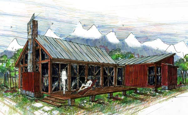 Cabin Ranch Southern House Plan 73615 Elevation