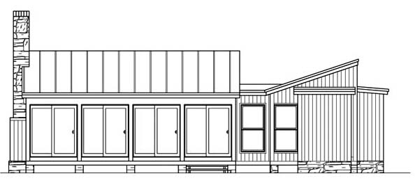 Cabin Ranch Southern House Plan 73615 Rear Elevation