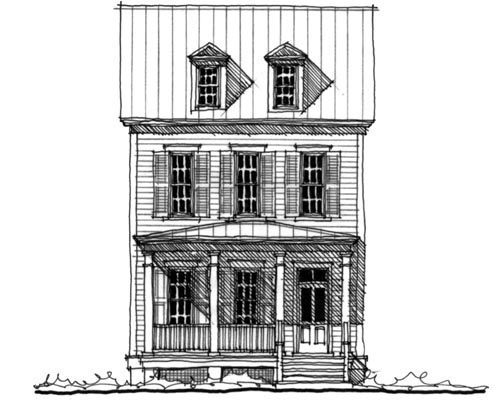 Historic Traditional House Plan 73704 Elevation