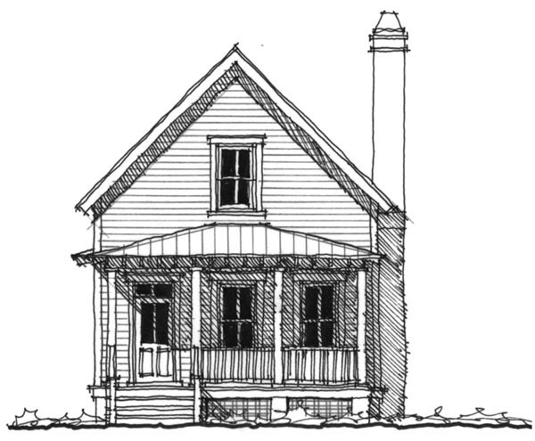 Historic Southern House Plan 73706 Elevation