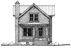Historic Southern House Plan 73707 Elevation