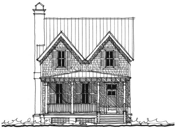 Historic , Southern , Elevation of Plan 73708