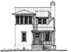 Historic Southern House Plan 73709 Elevation