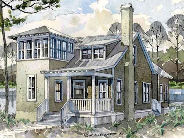 Historic Southern House Plan 73709
