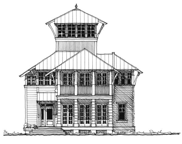 Historic, Southern House Plan 73711 with 4 Beds , 4 Baths Elevation