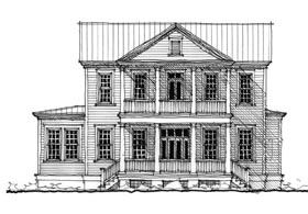 Historic Southern House Plan 73712 Elevation