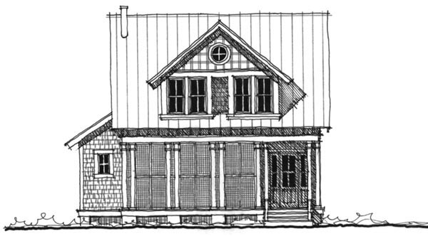 Historic Southern Elevation of Plan 73715