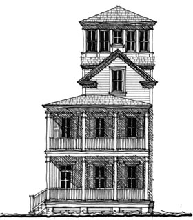 Historic Southern House Plan 73716 Elevation