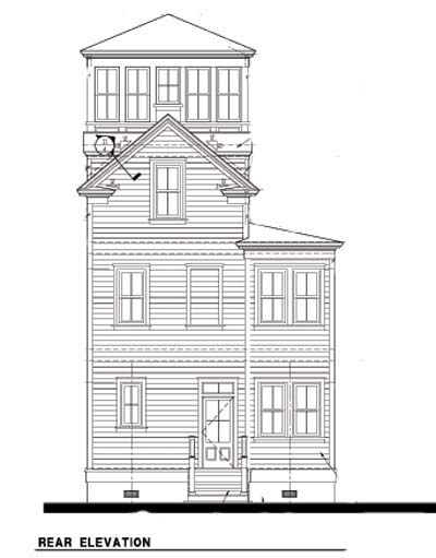 Historic Southern House Plan 73716 Rear Elevation