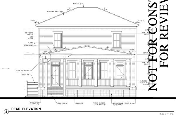 Historic Southern House Plan 73717 Rear Elevation