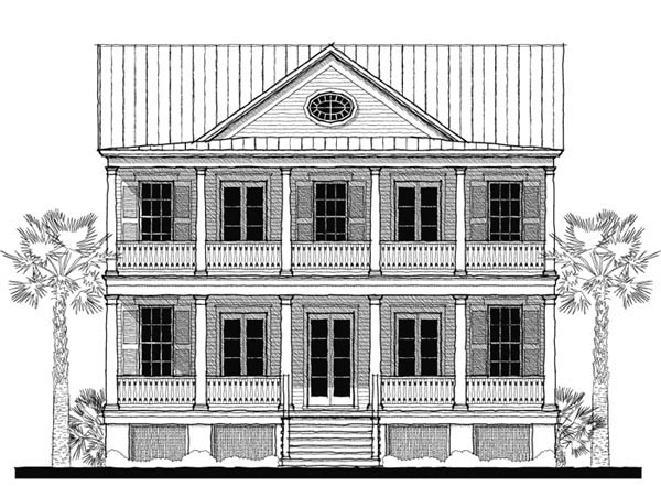 Historic , Southern House Plan 73718 with 4 Beds, 3 Baths Elevation