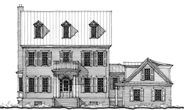 Historic Southern House Plan 73719 Elevation