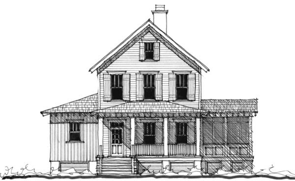 House Plan 73720 | Historic Southern Style Plan with 2545 Sq Ft, 3 Bedrooms, 4 Bathrooms Elevation