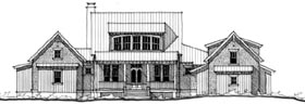 Southern , Historic House Plan 73721 with 3 Beds, 4 Baths Elevation