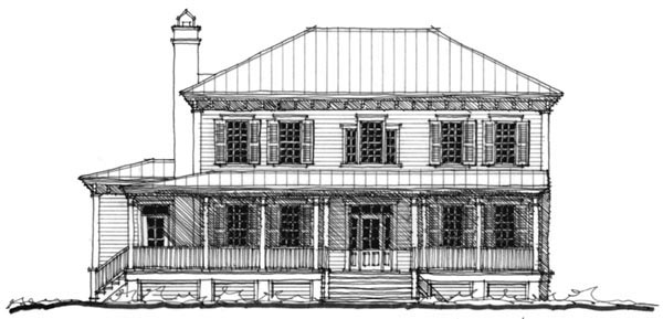 Historic Southern House Plan 73722 Elevation