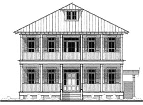 Historic Southern House Plan 73723 Elevation