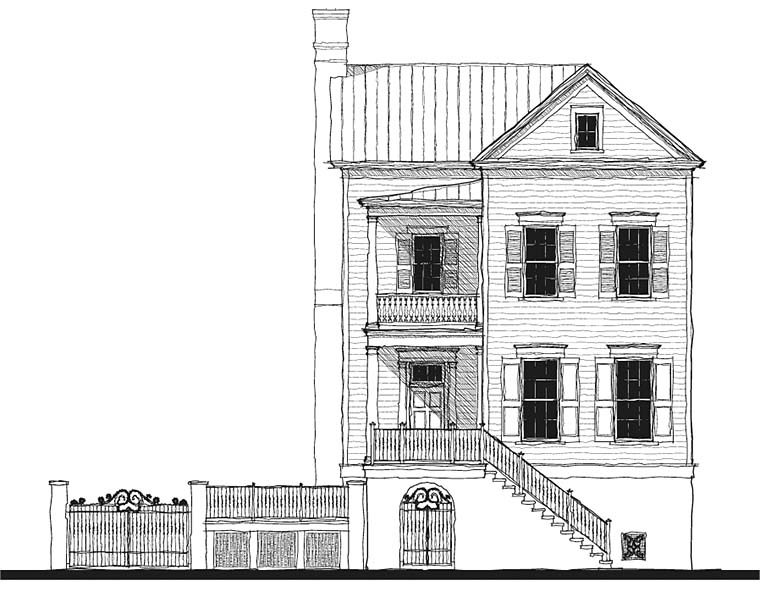 Historic Southern House Plan 73725