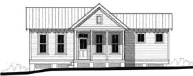 Historic Southern House Plan 73726 Elevation
