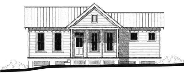 Historic , Southern , Elevation of Plan 73726