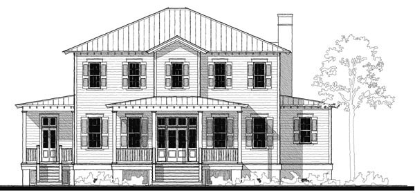 Historic Southern House Plan 73727 Elevation