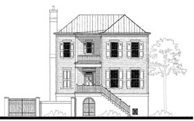House Plan 73728 | Historic, Southern Style House Plan with 3394 Sq Ft, 4 Bed, 4 Bath, 2 Car Garage Elevation