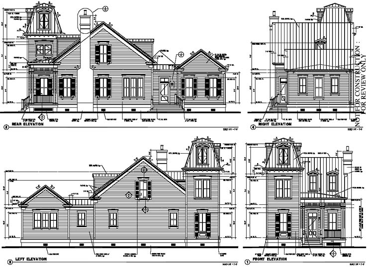 Historic , Italian , Victorian House Plan 73730 with 3 Beds, 3 Baths Rear Elevation