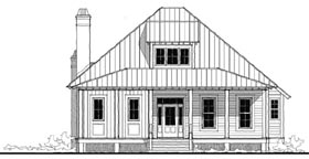 Historic Southern House Plan 73731 Elevation