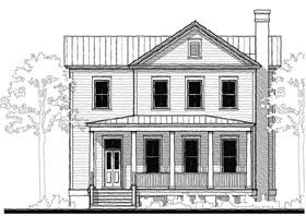 Historic Southern House Plan 73734 Elevation