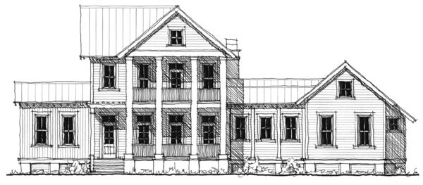 Historic Southern House Plan 73735 Elevation
