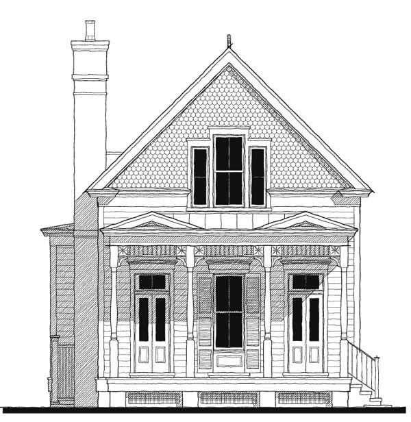 Historic Southern House Plan 73736 Elevation