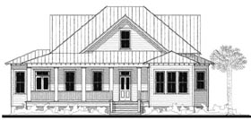 Southern , Historic House Plan 73738 with 4 Beds, 4 Baths Elevation