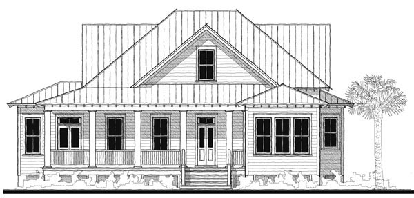 Historic Southern House Plan 73738 Elevation