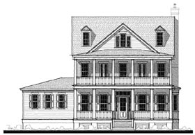 Historic Southern House Plan 73740 Elevation