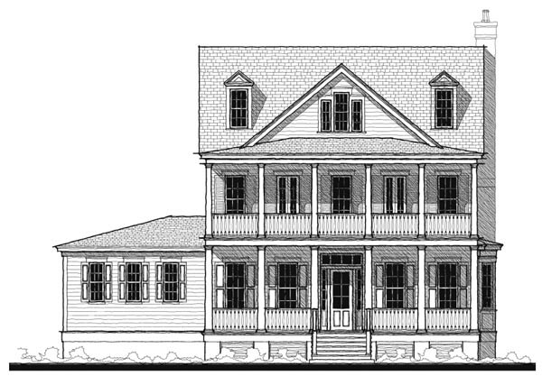 Historic , Southern , Elevation of Plan 73740