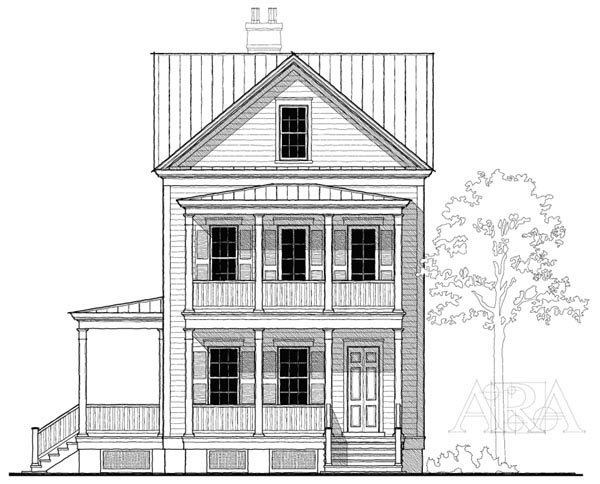 Historic Southern House Plan 73741 Elevation
