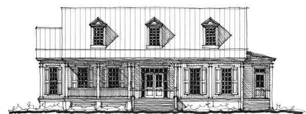 Historic Southern House Plan 73743 Elevation