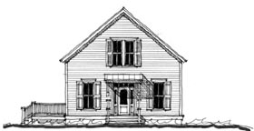 Historic Southern House Plan 73744 Elevation