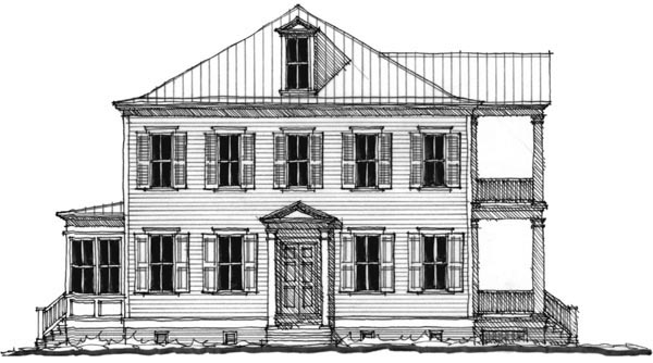 Historic Southern House Plan 73745 Elevation