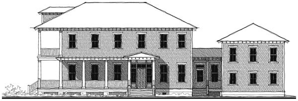 Historic Southern House Plan 73747 Elevation