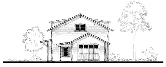 Historic Garage Plan 73750 Elevation