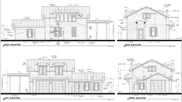 Historic Garage Plan 73750 Rear Elevation