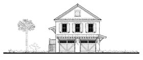 Historic 2 Car Garage Apartment Plan 73751 with 2 Beds, 2 Baths Elevation