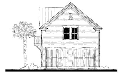 Historic 2 Car Garage Apartment Plan 73752 with 1 Beds, 1 Baths Elevation