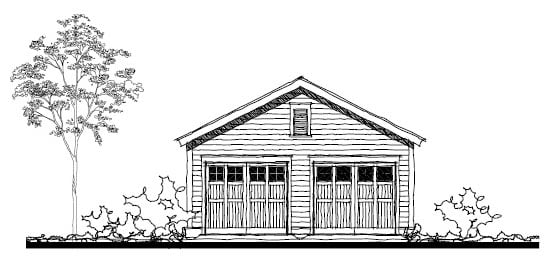 Historic Garage Plan 73753 Elevation