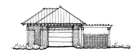 Historic Garage Plan 73754 Elevation