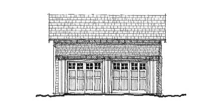 Historic Garage Plan 73755 Elevation